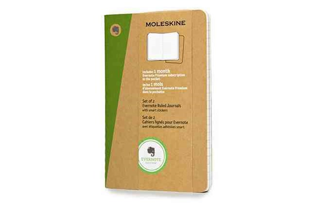 Moleskine - Evernote Notebook - Set of 2 - Ruled - Pocket - Kraft