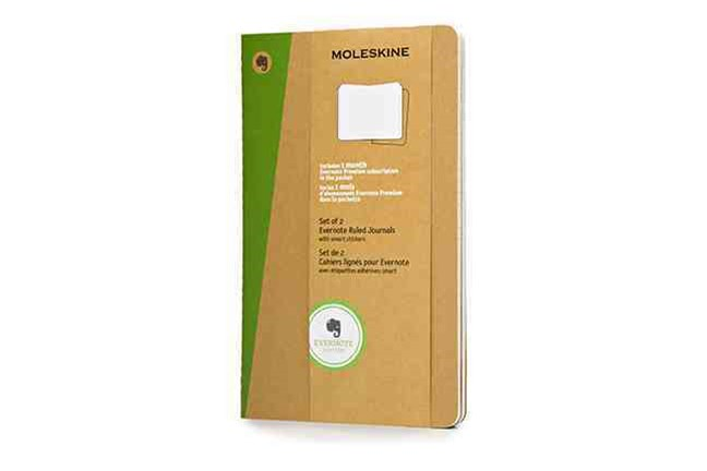 Moleskine - Evernote Notebook - Set of 2 - Ruled - Large - Kraft