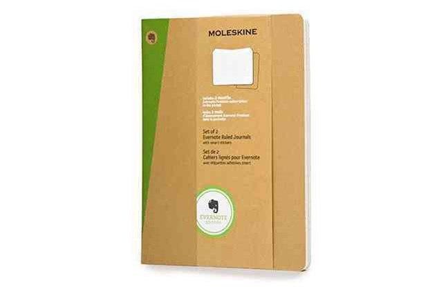 Moleskine - Evernote Notebook - Set of 2 - Ruled - Extra Large - Kraft