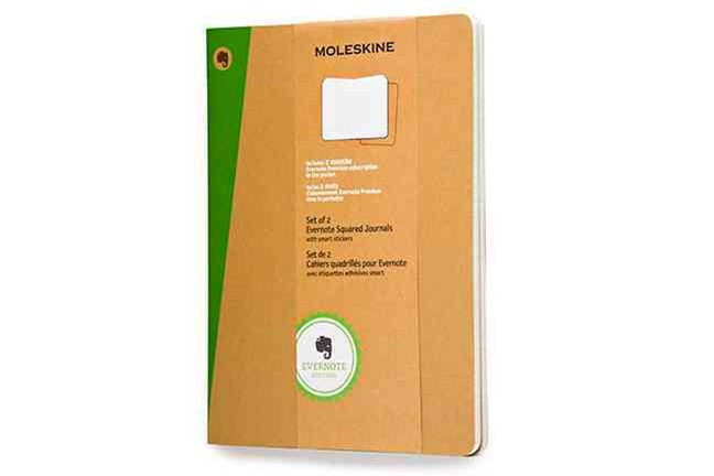 Extra Large Squared Kraft Soft Evernote Journal with Smart Stickers 2 Set