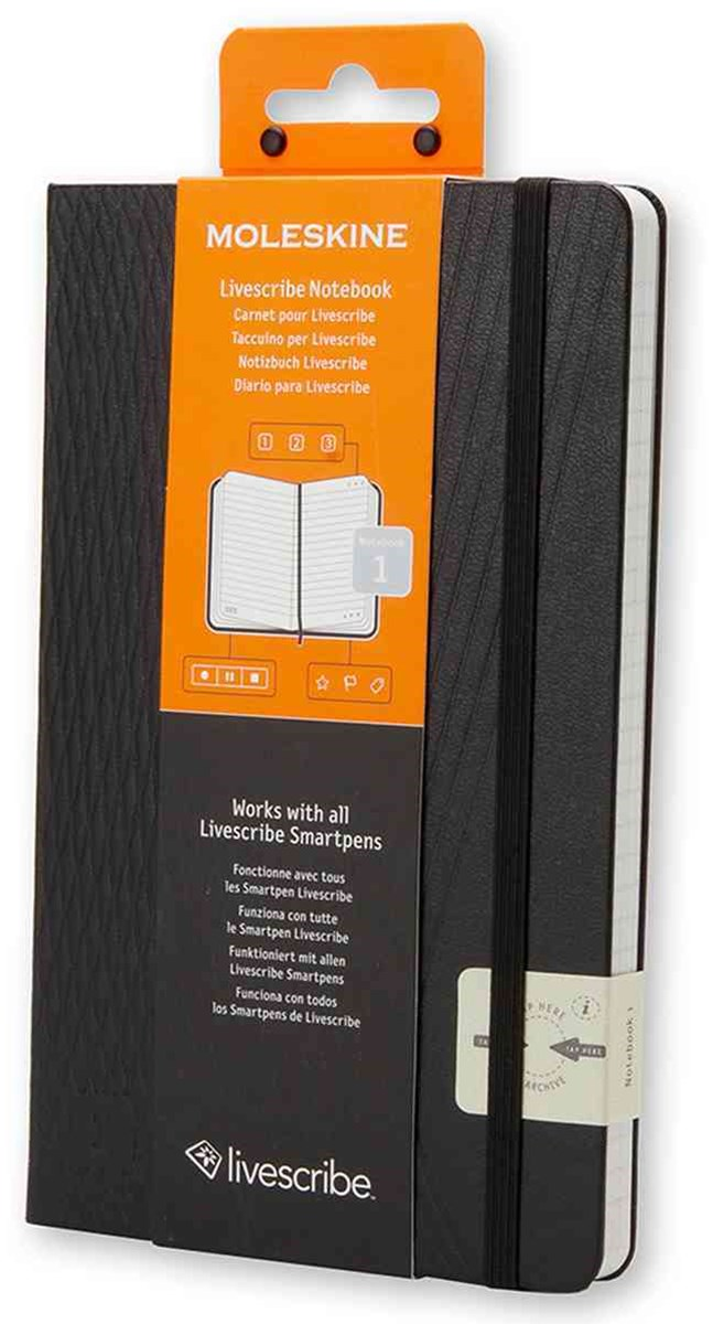 Moleskine - Livescribe Notebook #1 - Ruled - Large - Black
