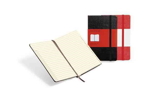 Moleskine - Classic Hard Cover Notebook - Address Book - Pocket - Black