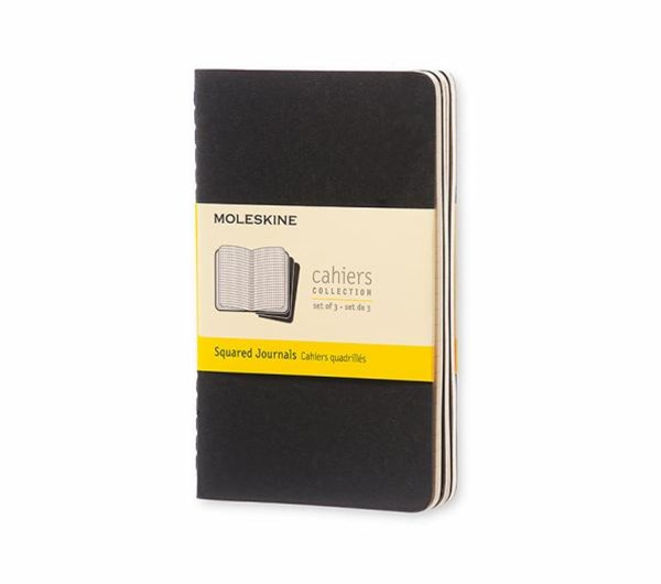 Moleskine - Cahier Notebook - Set of 3 - Grid - Pocket - Black