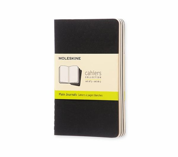 Moleskine - Cahier Notebook - Set of 3 - Plain - Pocket - Black