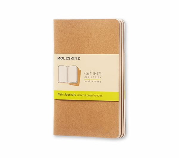 Moleskine - Cahier Notebook - Set of 3 - Plain - Pocket - Kraft