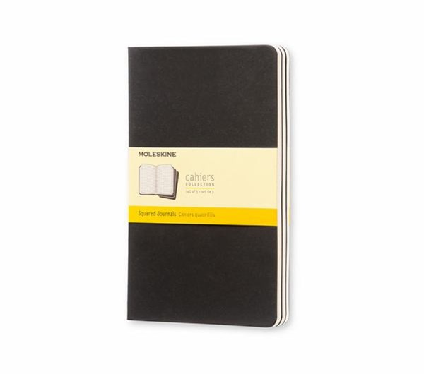 Moleskine - Cahier Notebook - Set of 3 - Grid - Large - Black