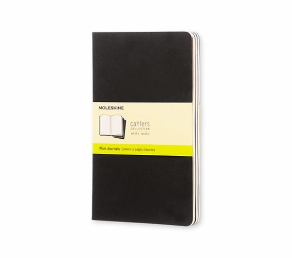 Moleskine - Cahier Notebook - Set of 3 - Plain - Large - Black