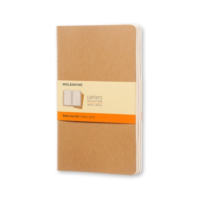 Moleskine - Cahier Notebook - Set of 3 - Ruled - Large - Kraft