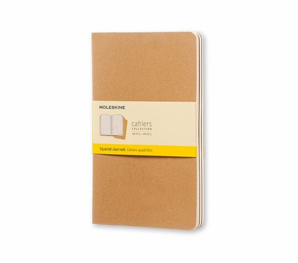 Moleskine - Cahier Notebook - Set of 3 - Grid - Large - Kraft