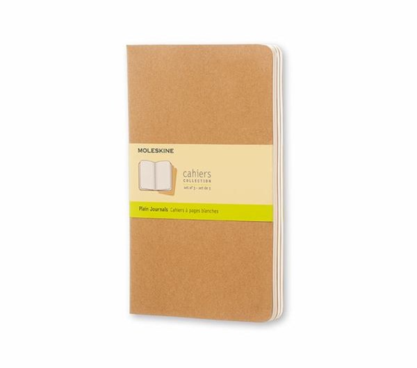Moleskine - Cahier Notebook - Set of 3 - Plain - Large - Kraft