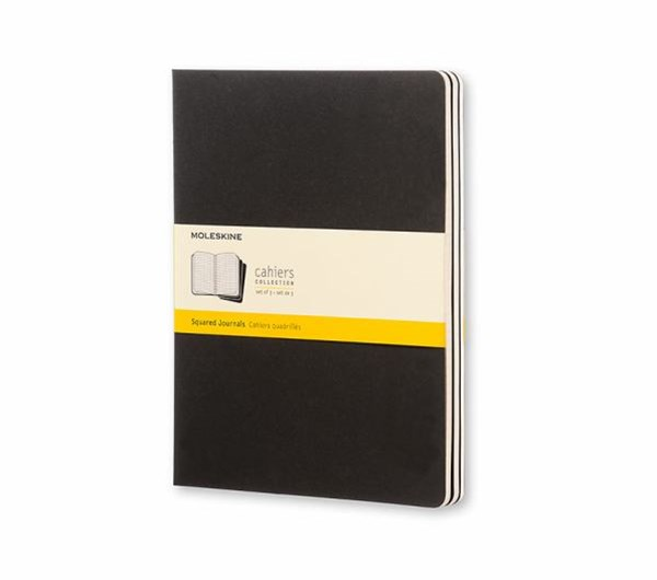 Moleskine - Cahier Notebook - Set of 3 - Grid - Extra Large - Black