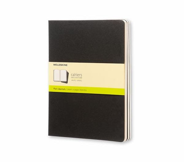 Moleskine - Cahier Notebook - Set of 3 - Plain - Extra Large - Black