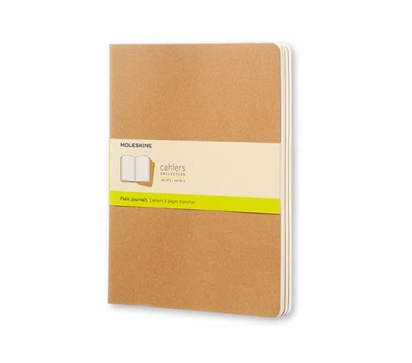 Moleskine - Cahier Notebook - Set of 3 - Plain - Extra Large - Kraft