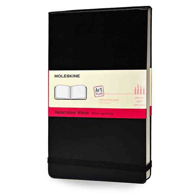 Moleskine - Watercolour Hard Cover Album - Plain - Large - Black