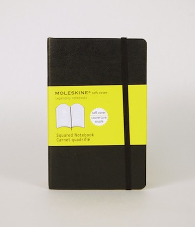 Moleskine - Classic Soft Cover Notebook - Grid - Pocket - Black
