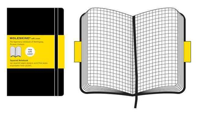 Moleskine - Classic Soft Cover Notebook - Grid - Extra Large - Black
