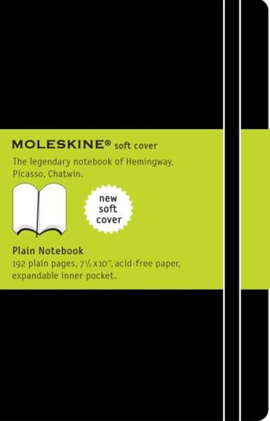 Moleskine - Classic Soft Cover Notebook - Plain - Extra Large - Black