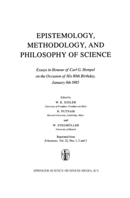 Epistemology, Methodology, and Philosophy of Science