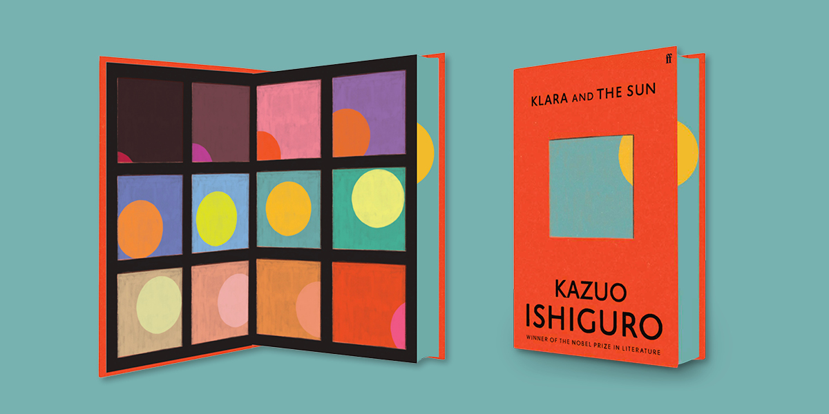 Exclusive sprayed edges and endpapers of KLARA AND THE SUN EXCLUSIVE EDITION by Kazuo Ishiguro