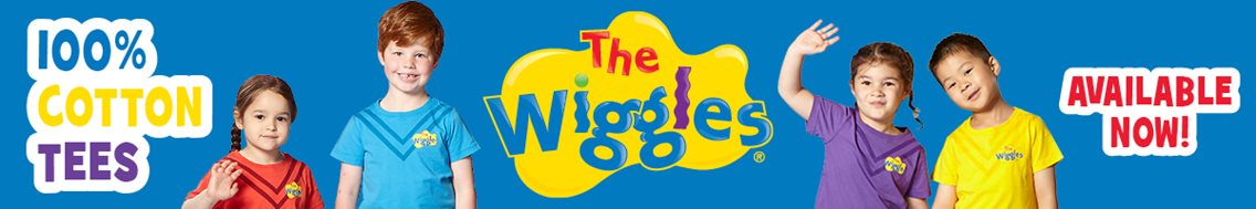 New official 100%25 cotton Wiggles T-Shirts now available!