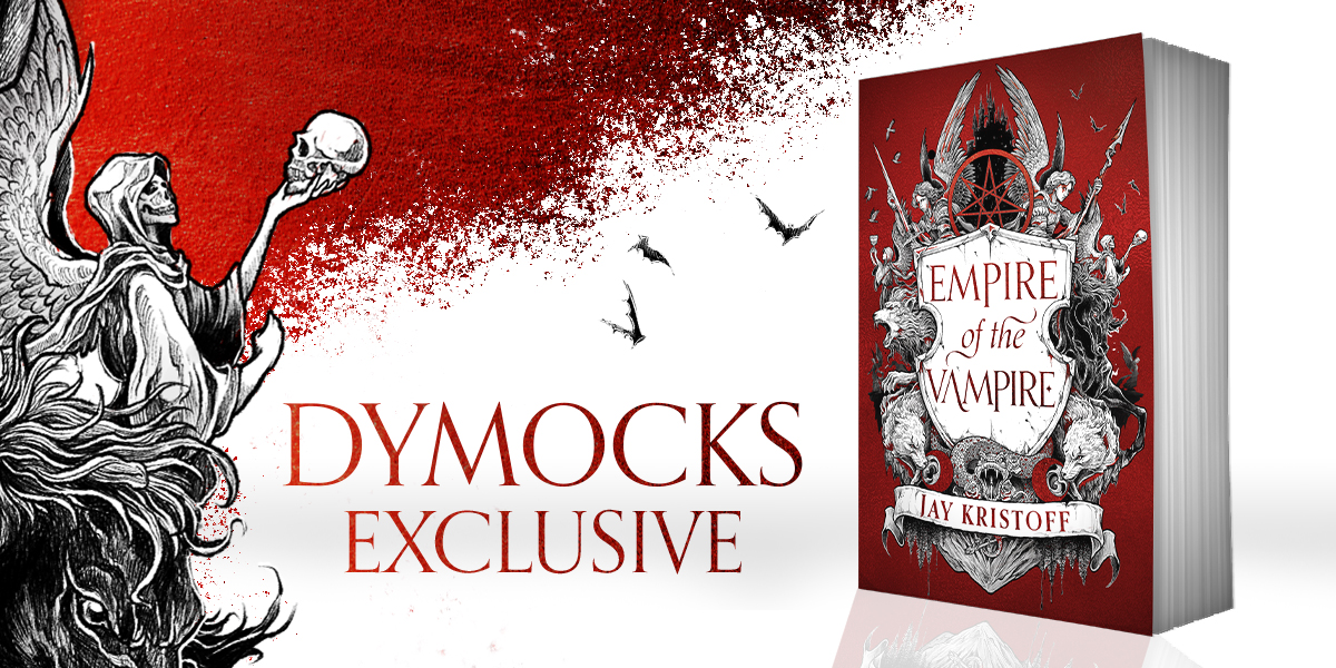 Exclusive red cover with embossing and red foil of EMPIRE OF THE VAMPIRE EXCLUSIVE EDITION by Jay Kristoff